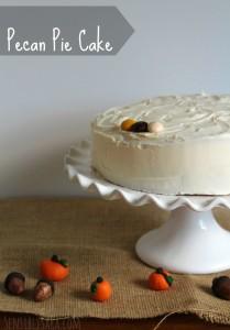 Pecan Pie Cake Recipe + Clay Pumpkin Decorations #BakeInTheFun [AD]