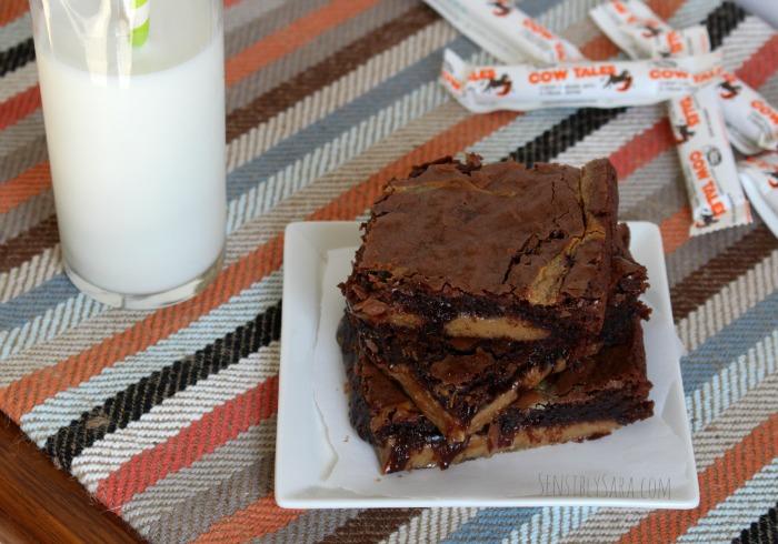Brownies with Cow Tales | SensiblySara.com