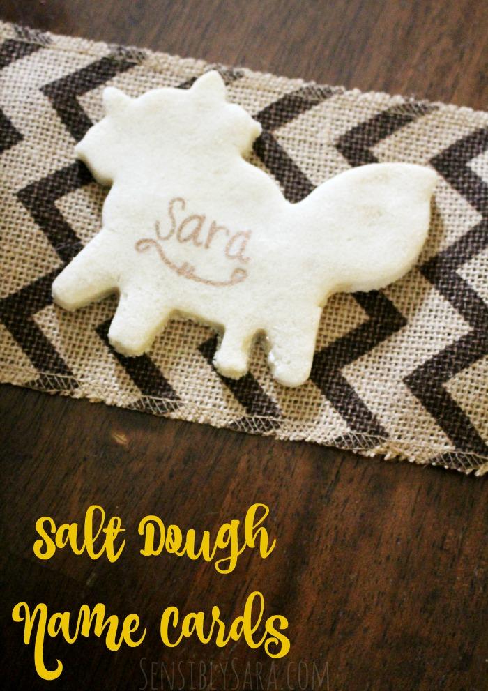 Salt Dough Name Cards | SensiblySara.com