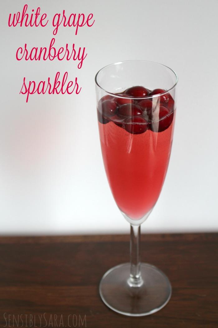 White Grape Cranberry Sparkler Drink | SensiblySara.com