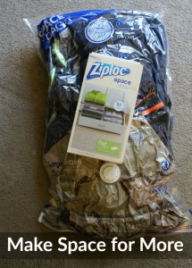 Make Space for More with Ziploc® Space Bags® [AD] #ZiplocSavesSpace