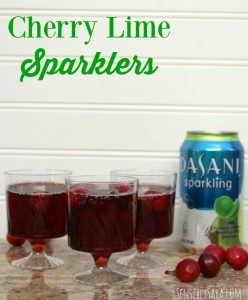 Cherry Lime Sparklers Recipe with Dasani Sparkling Water [AD] #SparklingHolidays