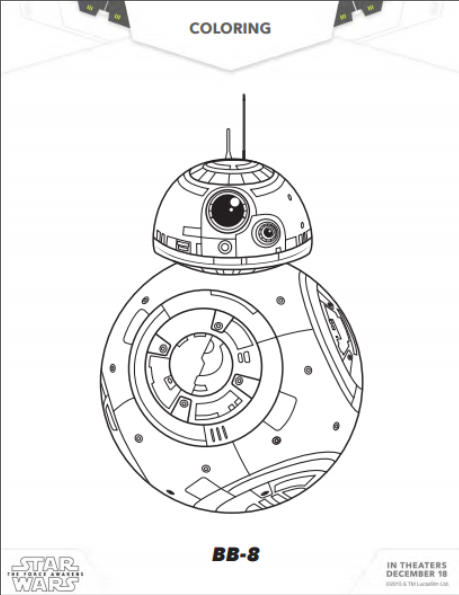 Star Wars The Force Awakens Printable Coloring Sheets