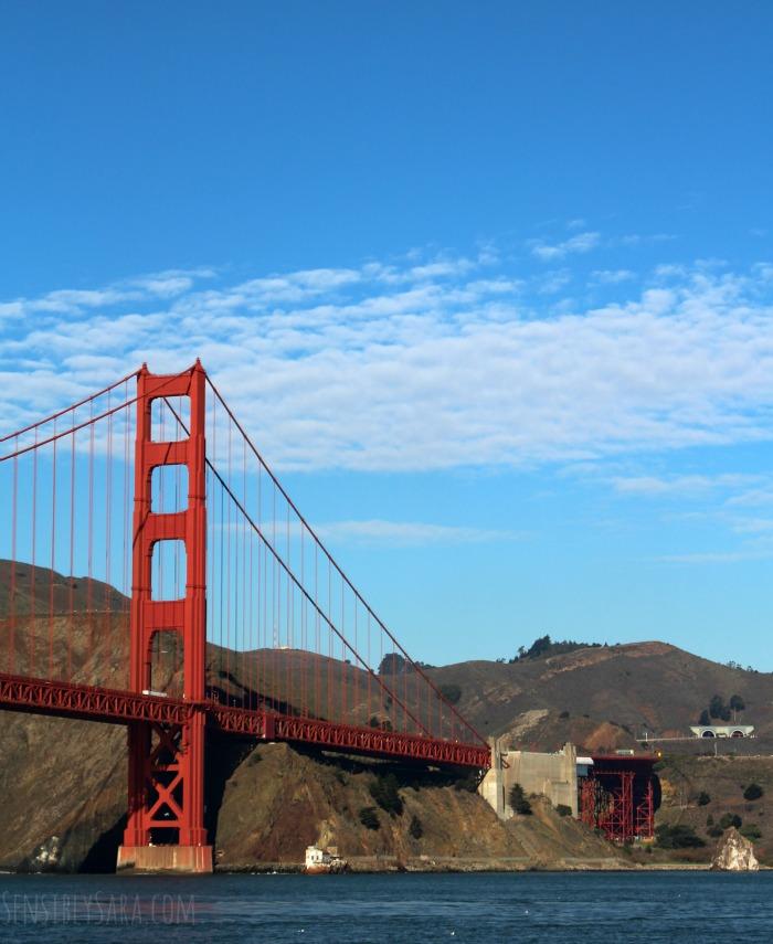 Golden Gate Bridge from the Blue & Gold Fleet | SensiblySara.com