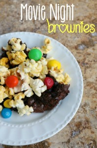 Movie Night Brownies Recipe [AD] #MakeItAMovieNight