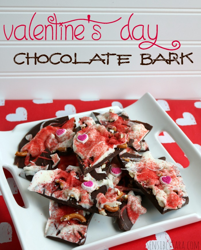 Valentine's Day Chocolate Bark | SensiblySara.com
