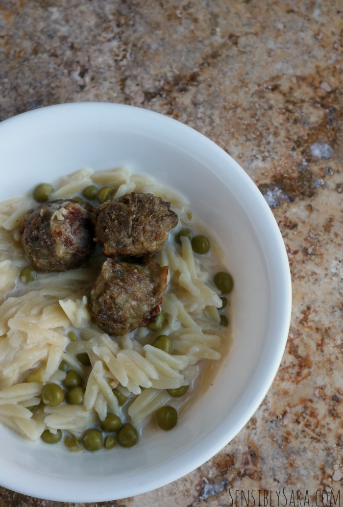 Meatballs & Orzo | SensiblySara.com