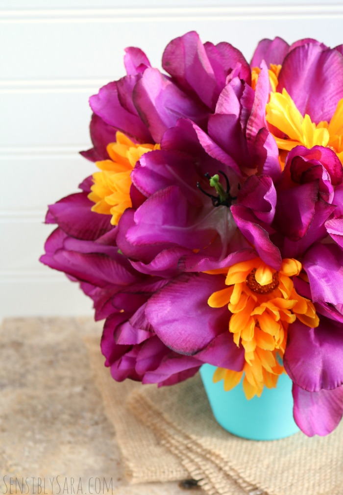 Teacher Appreciation Flower Bouquet | SensiblySara.com
