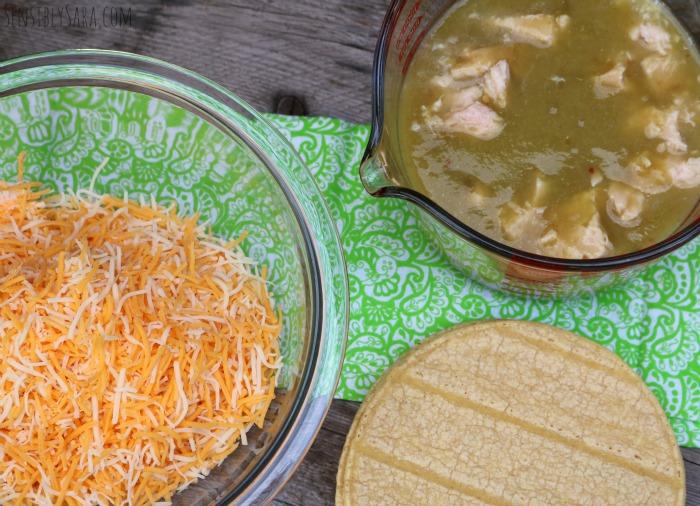 Cheesy Chicken Enchiladas Ingredients | SensiblySara.com