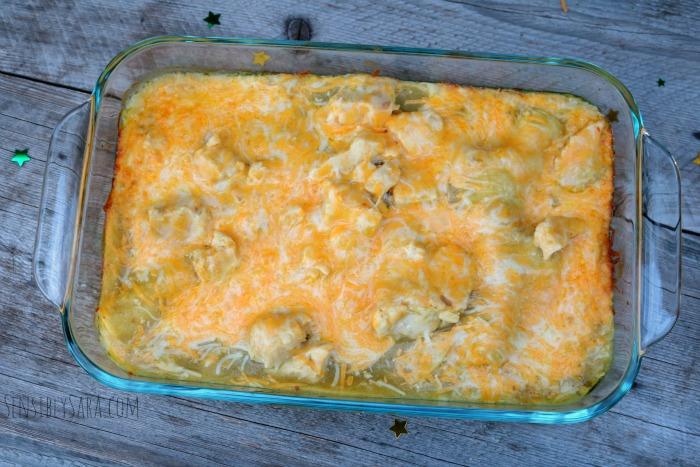Step 4 - Cheesy Chicken Enchiladas | SensiblySara.com