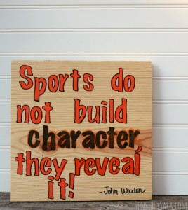 DIY Basketball Sign [AD] #GameForBasketball