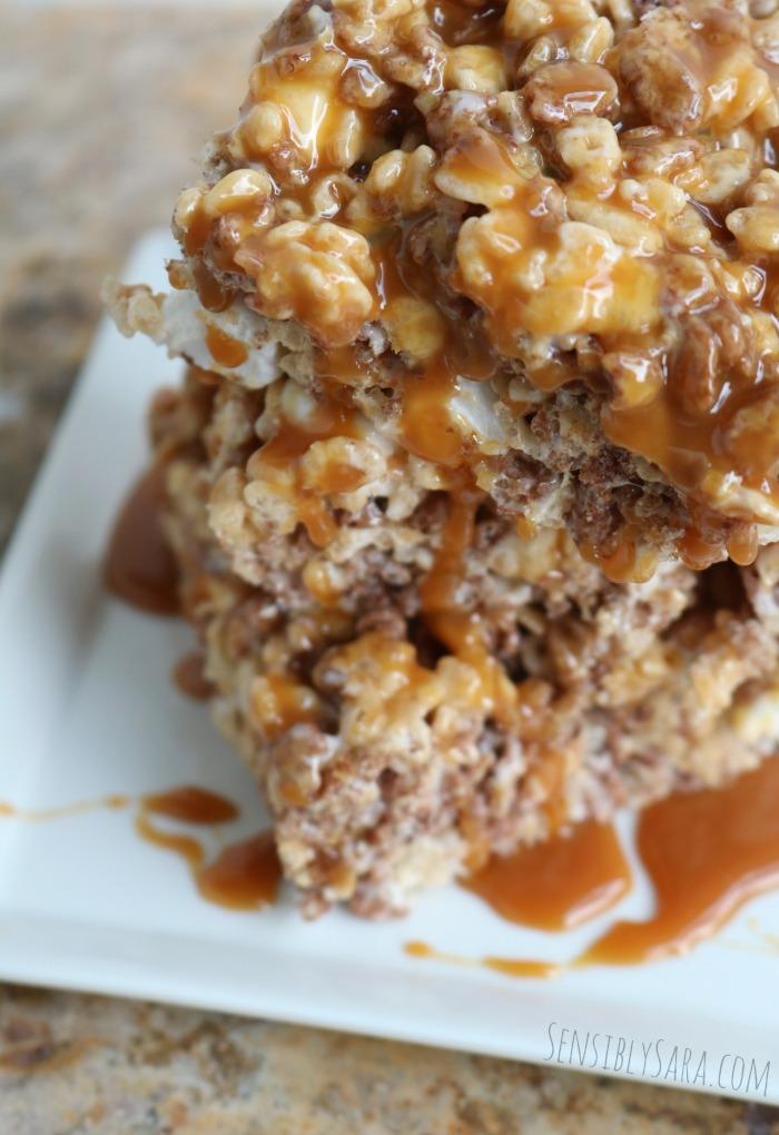 Salted Caramel Krisped Rice Treats | SensiblySara.com