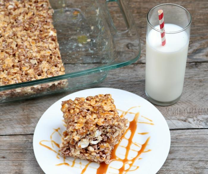 No Bake Dessert - Krisped Rice Treat | SensiblySara.com