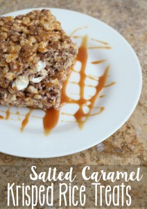 Salted Caramel Krisped Rice Treats Recipe