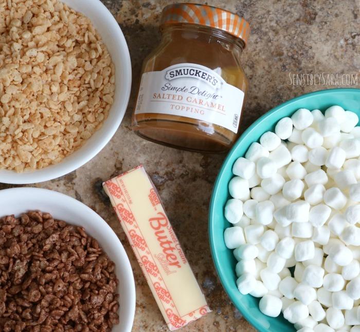 Salted Caramel Krisped Rice Treats Ingredients | SensiblySara.com