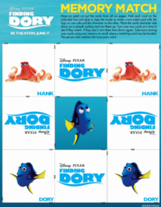 FINDING DORY Printable Disney Activity Sheets
