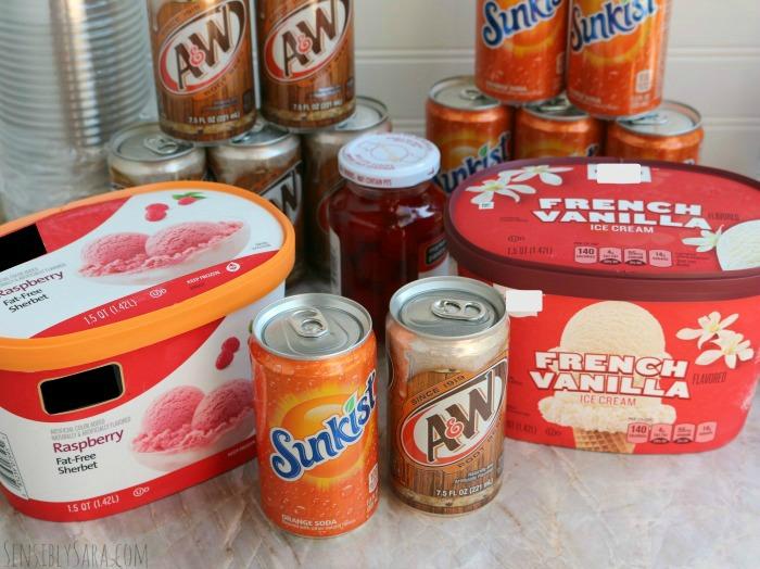 Ice Cream Float Ingredients | SensiblySara.com