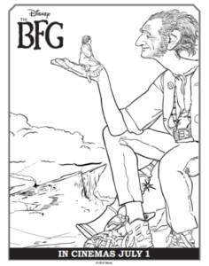 Disney's The BFG Coloring Sheets