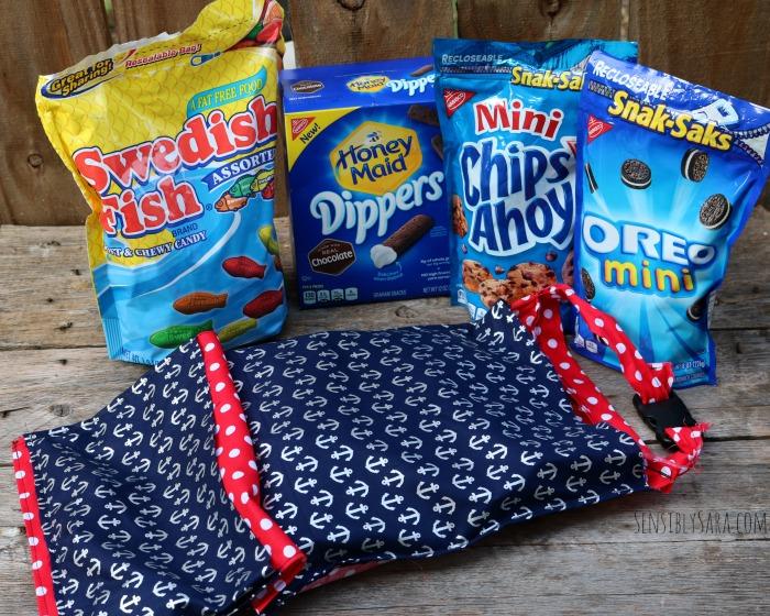 Head Rest Go Bag with Snacks | SensiblySara.com