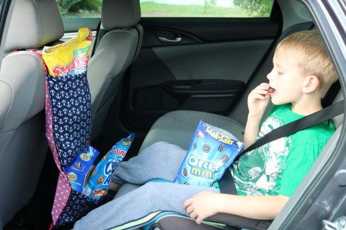 Snack Bag for Road Trips | SensiblySara.com