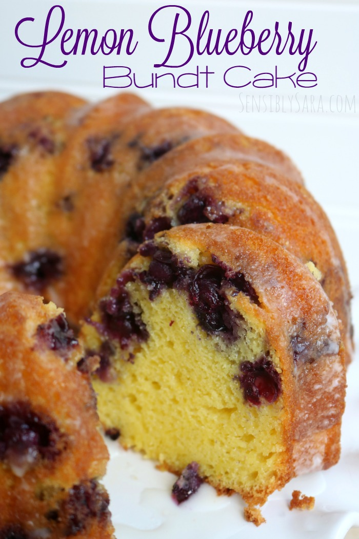 Best Lemon Blueberry Bundt Cake | SensiblySara.com