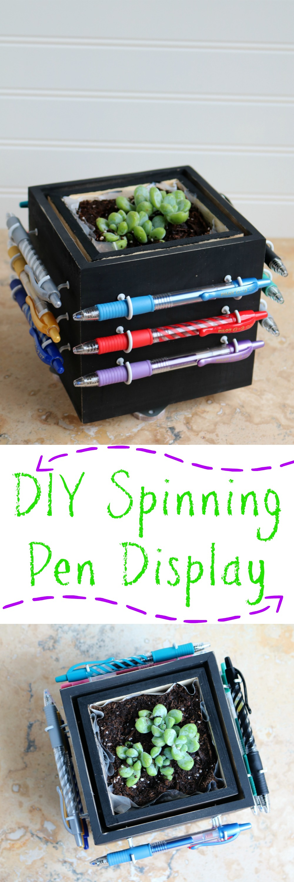 DIY Spinning Pen Display