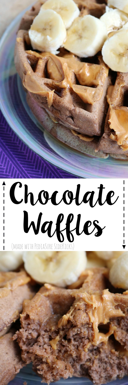 Chocolate Waffles Made with PediaSure SideKicks | SensiblySara.com