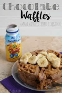 Chocolate Waffles with PediaSure SideKicks #PediaSure #Sidekicks #ForPickyEaters