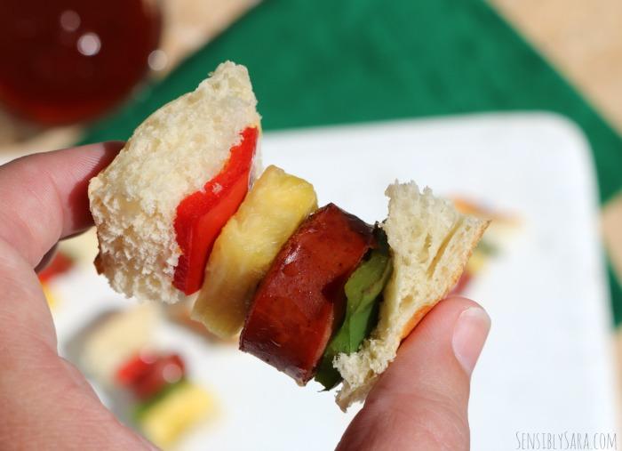 Sausage Skewer Bites | SensiblySara.com