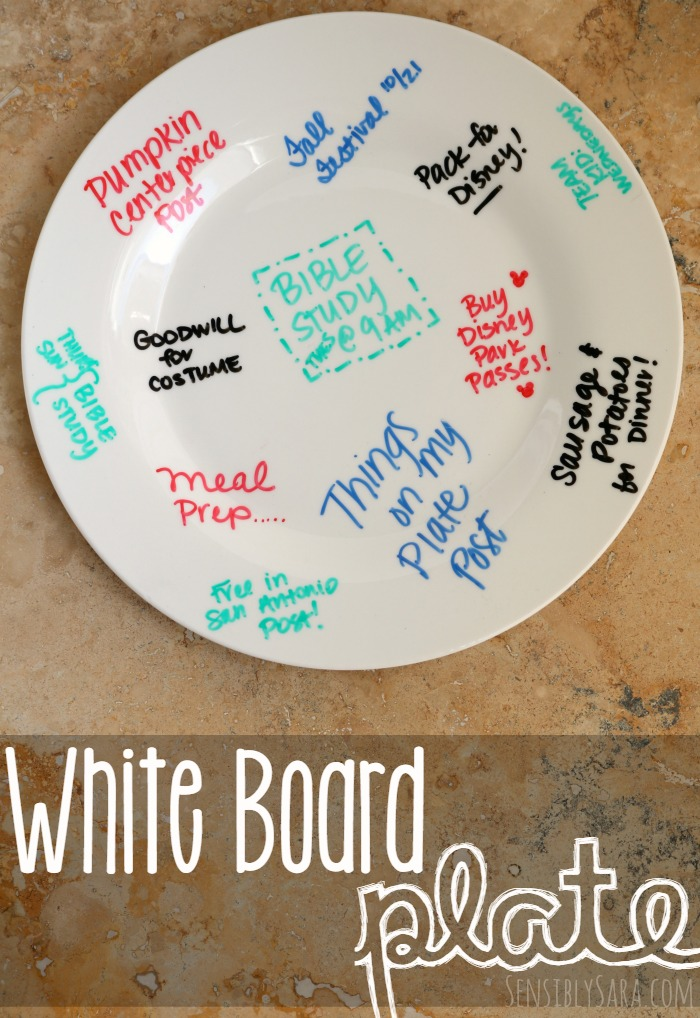 Take things off your plate with a white board plate | SensiblySara.com