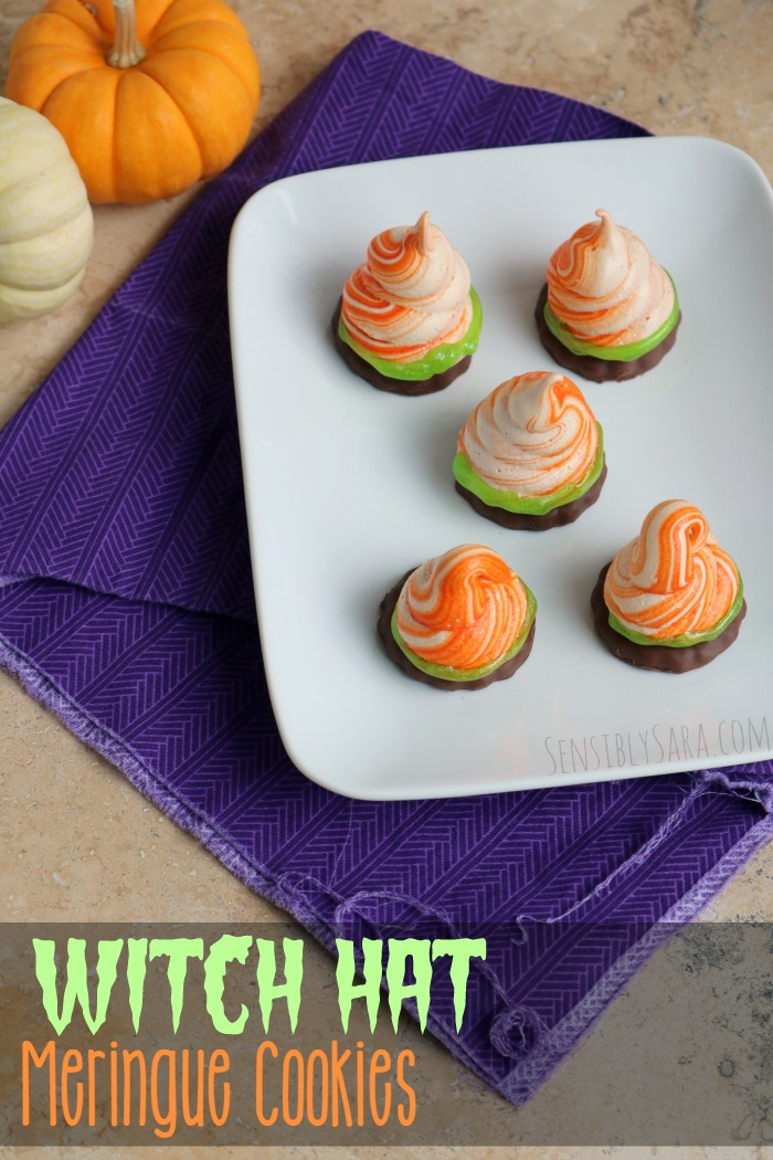 Witch Hat Meringue Cookie Recipe | SensiblySara.com