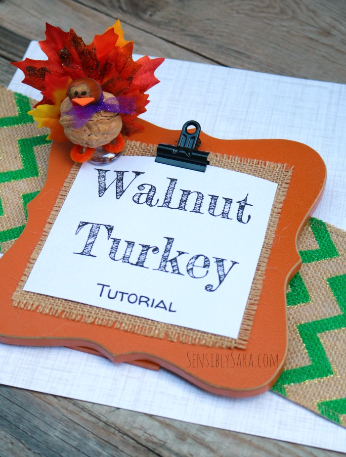 Walnut Turkey Craft Tutorial | SensiblySara.com