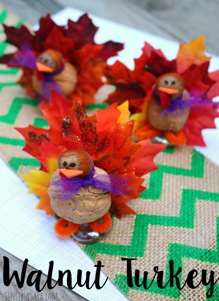 Walnut Turkey Craft | SensiblySara.com