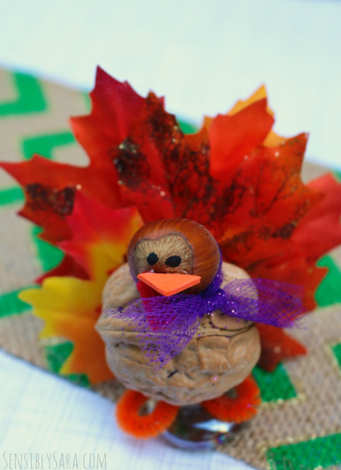 Walnut Turkey Thanksgiving Craft | SensiblySara.com