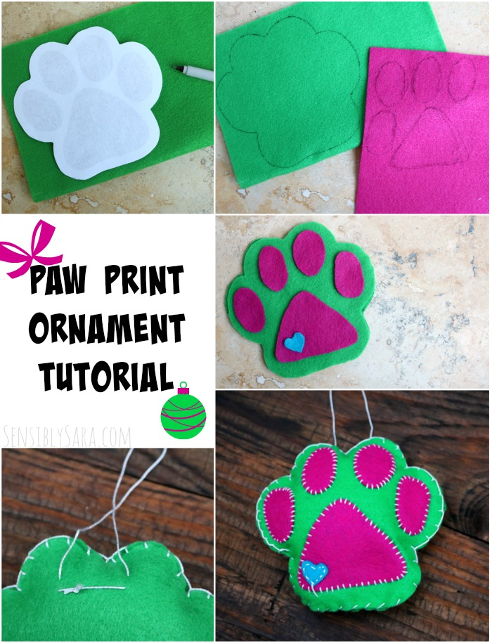 Paw Print Ornament Tutorial | SensiblySara.com
