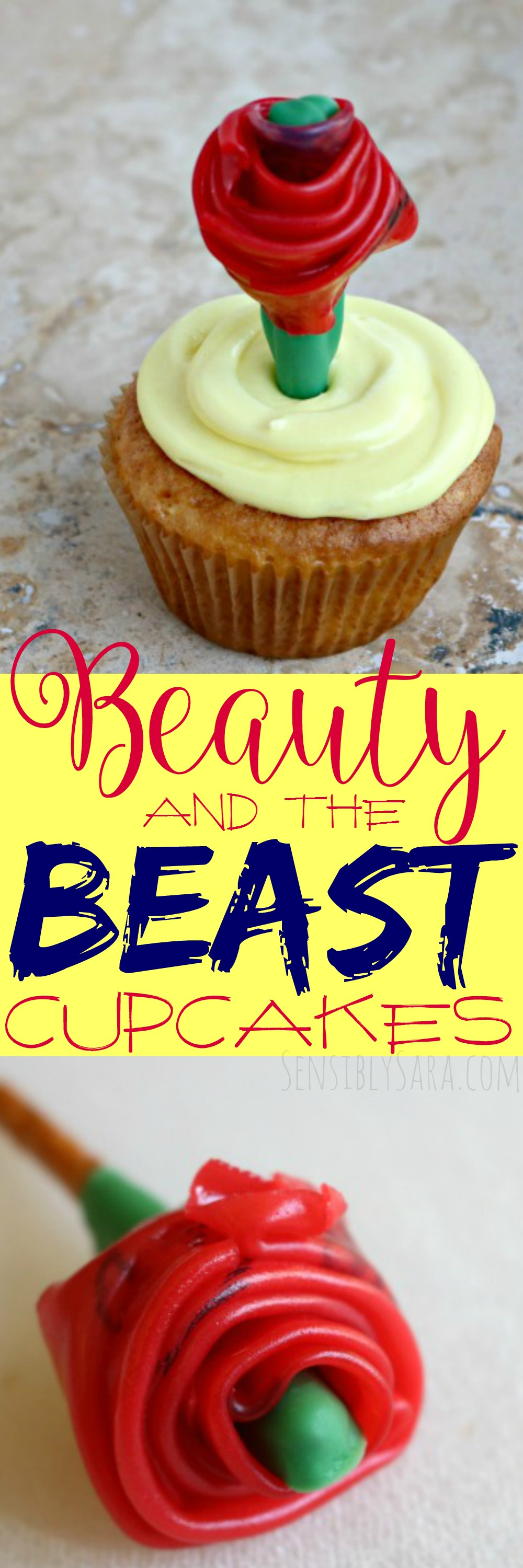 Beauty and the Beast Cupcakes | SensiblySara.com