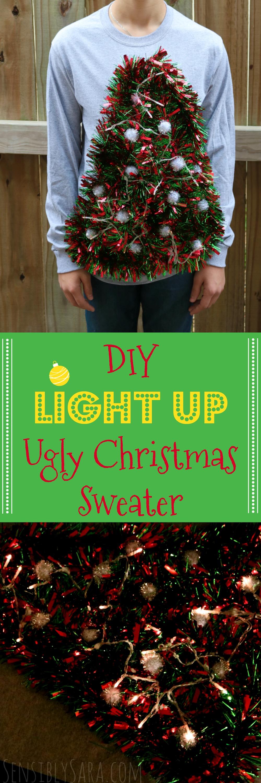 How to Make an Ugly Christmas Sweater | SensiblySara.com