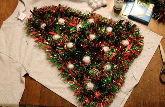 DIY Ugly Christmas Sweater Step 4 | SensiblySara.com