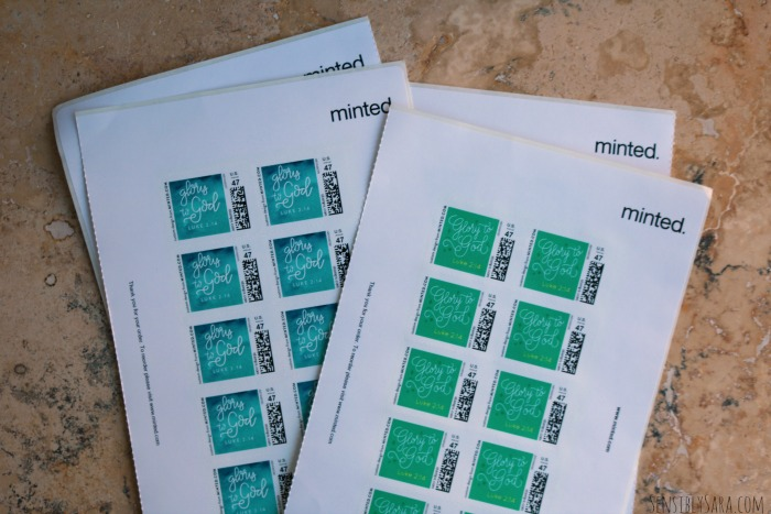 Minted.com Custom Stamps | SensiblySara.com