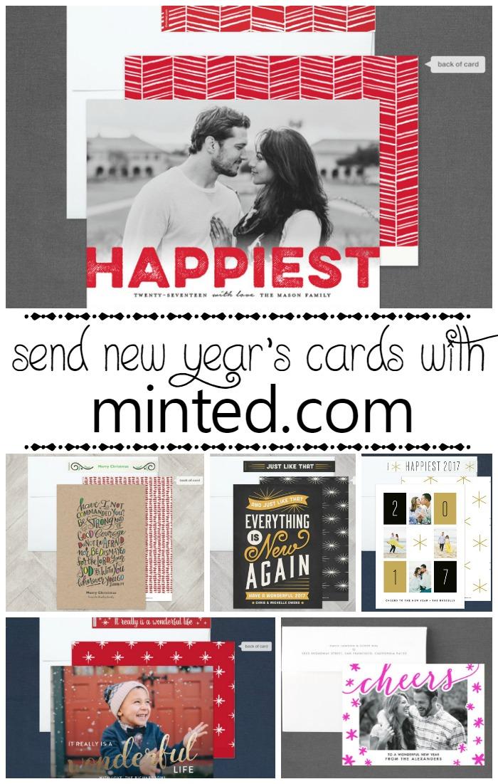 Minted New Year's Cards | SensiblySara.com
