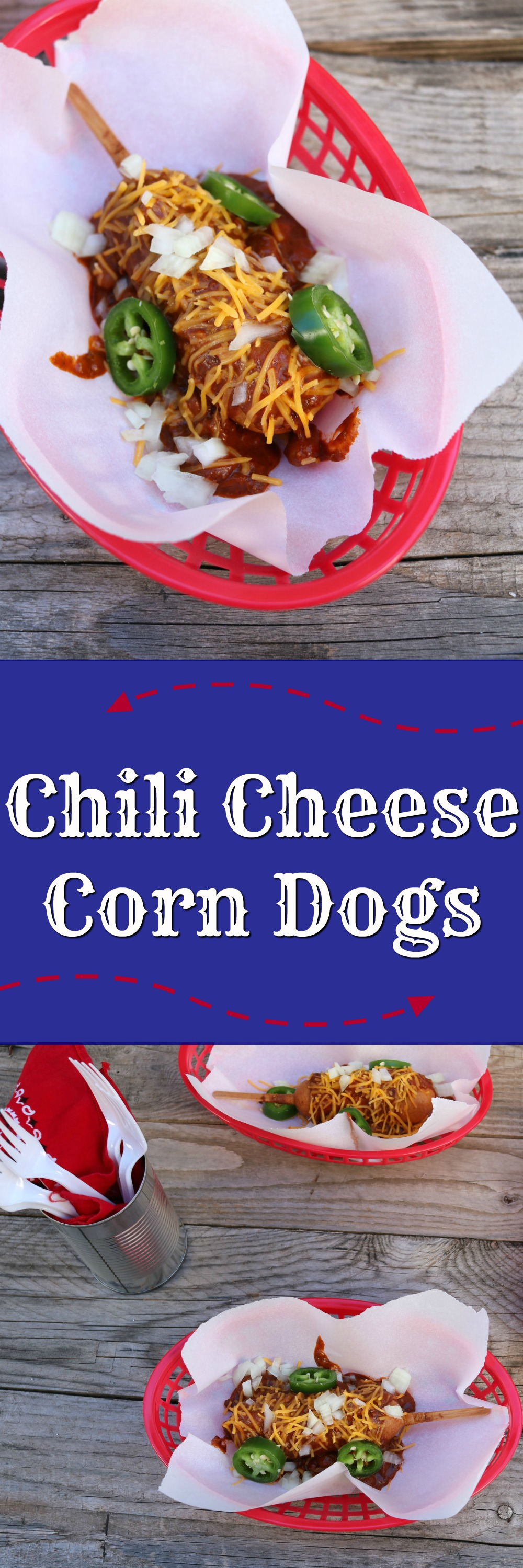 Chili Cheese Corn Dogs | SensiblySara.com