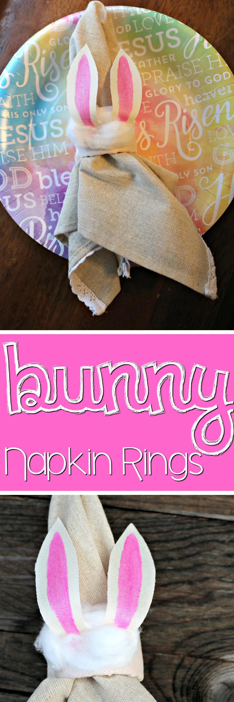 Bunny Napkin Rings Craft | SensiblySara.com
