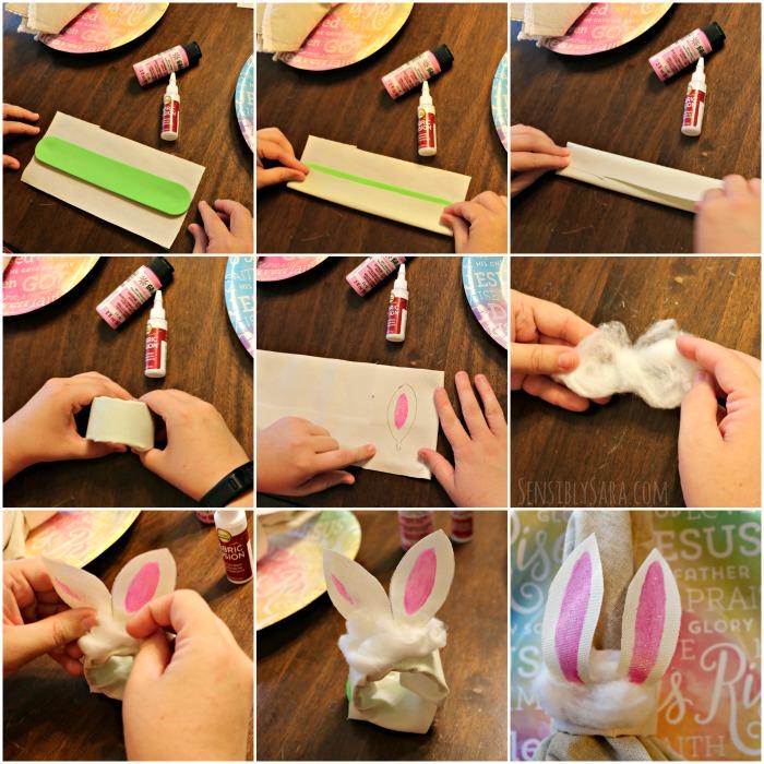 How to Make Bunny Napkin Rings | SensiblySara.com