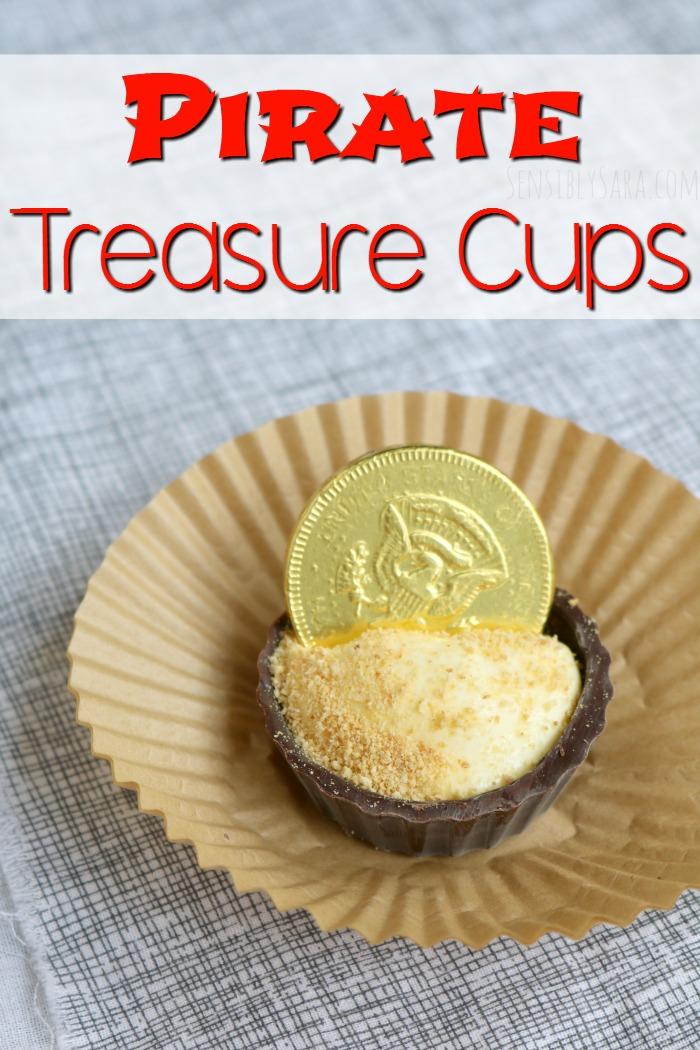Pirate Treasure Cups Snack | SensiblySara.com