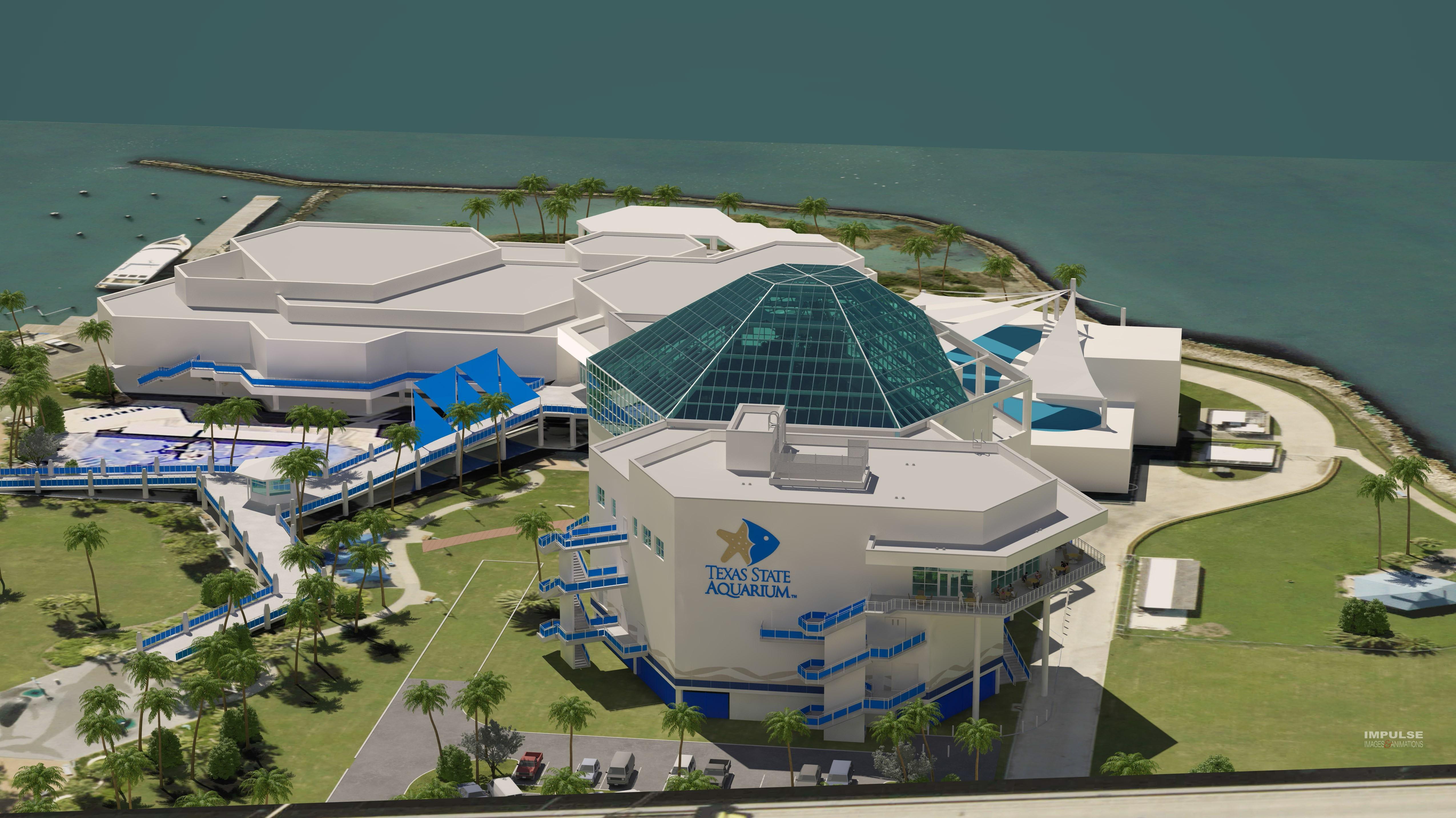 Texas State Aquarium Expansion Rendering