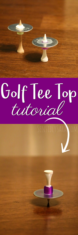 Golf Tee Top Tutorial | SensiblySara.com