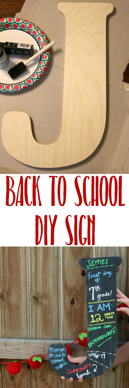 Chalkboard Back to School Sign | SensiblySara.com