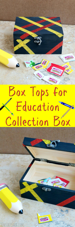 DIY Box Tops for Education Collection Box | SensiblySara.com