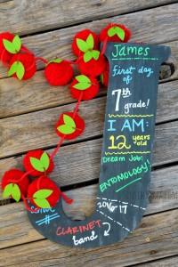 Schoolnitials: DIY Reusable Initial Chalkboard Back to School Sign