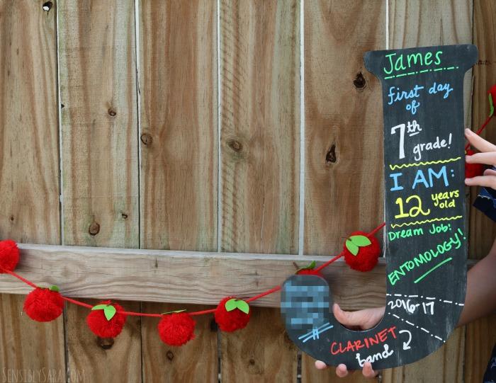 DIY Chalkboard Back to School Sign | SensiblySara.com
